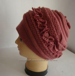 Женская трикотажная шапка р 56-58