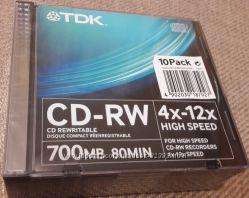 CD-RW TDK 10 шт