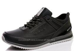 Кожаные мужские кроссовки. Р-ры 40-45