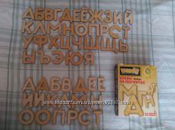 Буквы на магнитах Woody