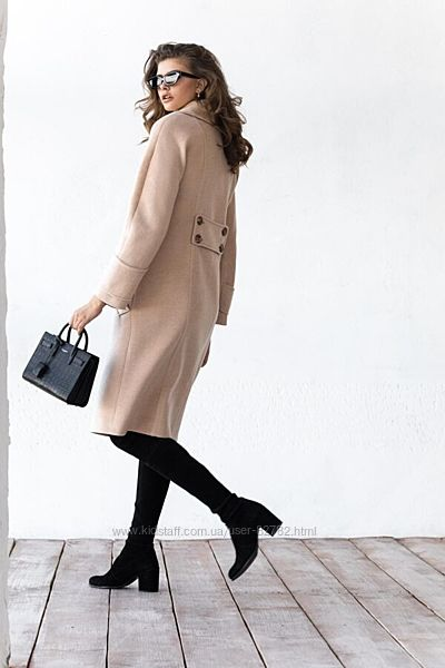 Стильное двубортное пальто тм Raslov