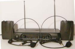 Двойная радиогарнитура наголовная петличка свободные руки shure sennheiser