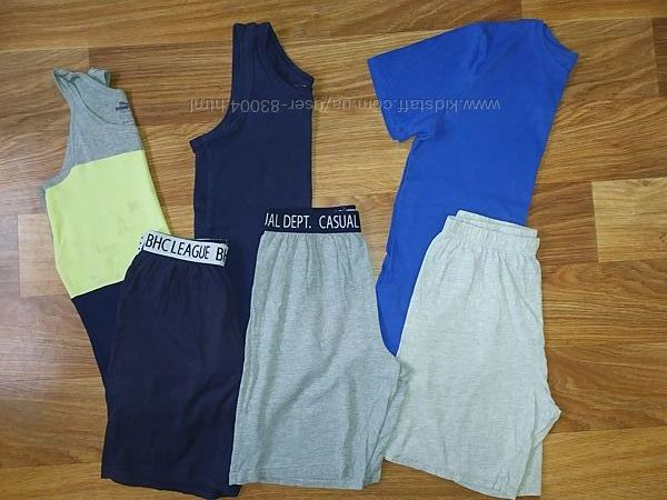 Три пижамки парню 12-14лет, 158-164см