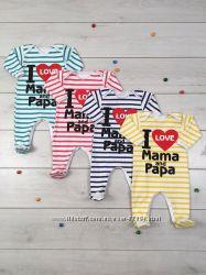 человечки для новорожденных Я люблю маму и папу