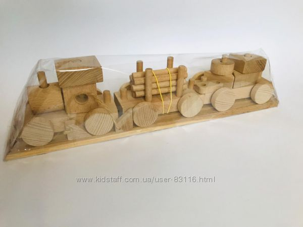 Деревянный паровоз-конструктор