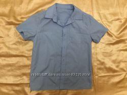 Рубашка голубая мальчику 136-142 см