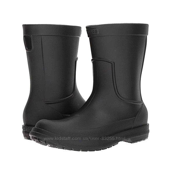 Сапоги резиновые мужские дождевики Крокс Crocs AllCast Rain Boot
