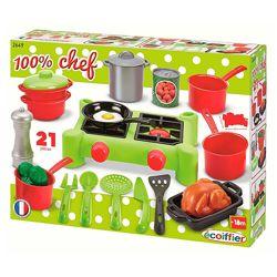 Игровой набор Плита и посуда Ecoiffier 21 аксессуар 002649