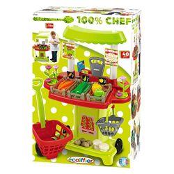 Овощной киоск Ecoiffier Chef-Cook с тележкой и корзиной, 40 аксес. 001744