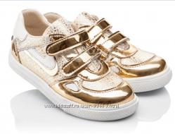 Ортопедические кожаные кроссовочки для модной девочки