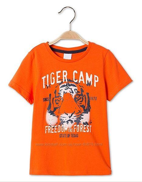 Хлопковая футболка тигр C&A Palomino