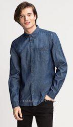 Фирменные мужские джинсовые рубашки C&A