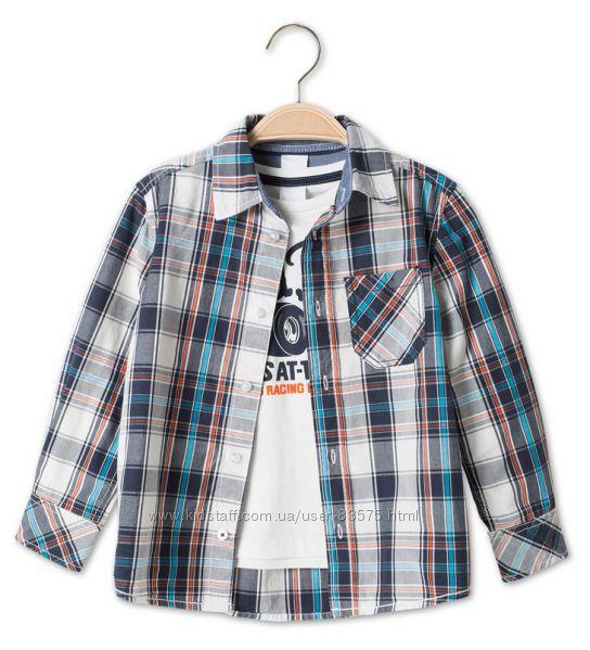 Фирменные рубашки и наборы C&A для малышей