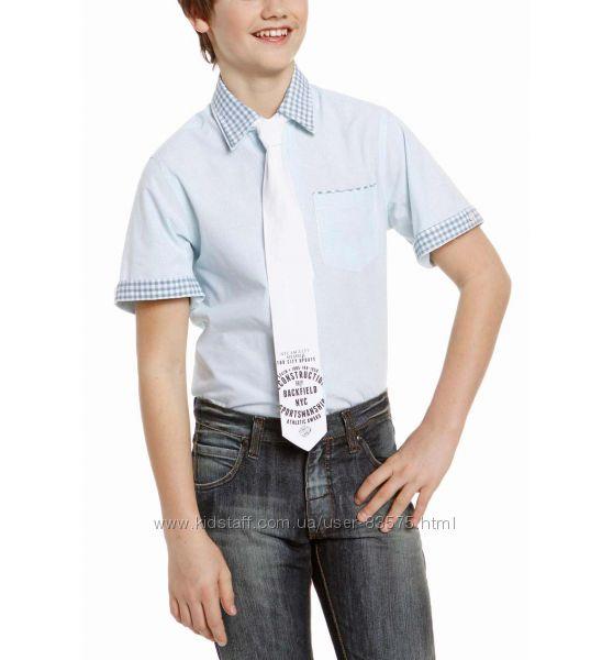 Хлопковая рубашка с галстуком C&A