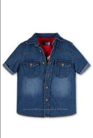 Фирменный летний набор C&A джинсовая рубашка и фуболка