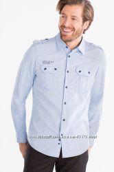 Хлопковая рубашка с длинным рукавом C&A, Германия