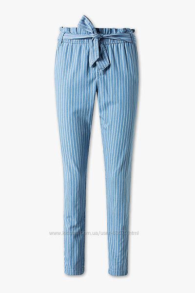 Хлопковые штаны в полоску C&A