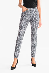 Фирменные леопардовые котоновые джинсы C&A