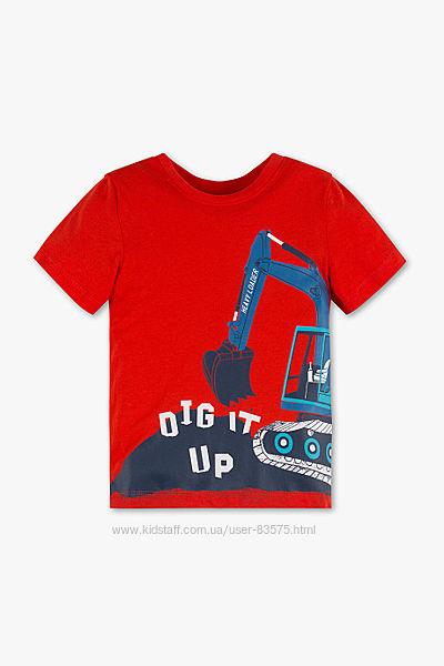 Хлопковая футболка экскаватор C&A
