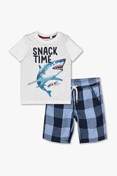Фирменный хлопковый летний комплект Акула C&A