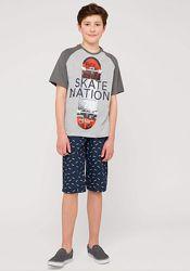 Хлопковый комплект футболка и шорты C&A Cunda