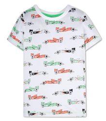 Хлопковая футболка гоночные машинки C&A Германия