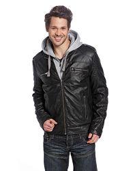 Фирменная мужская куртка под кожу