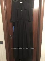 Эффектное вечернее платье в пол темно-синего цвета состояние нового