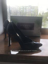 Шикарный туфли - лодочки на высокой шпильке Foletti, натуральная кожа