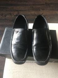 Модные стильные кожаные туфли Armani junior для мальчика размер 35