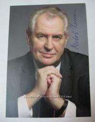 Автограф Президент Чехии Милош Земан