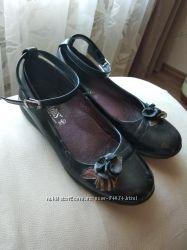 Туфли 35р девочке для школы, кожа, Украина