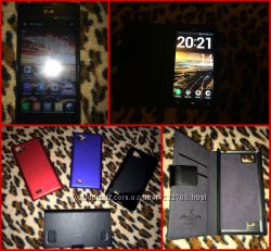 LG P880 Optimus 4x HD Black и 2 чехла