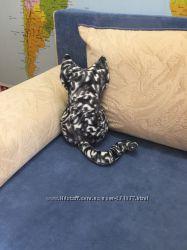 Обиженный кот интерьерная подушка ручной работы на диван