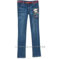 Новые джинсы скини с поясом Faded Glory США оригинал, р. 5T