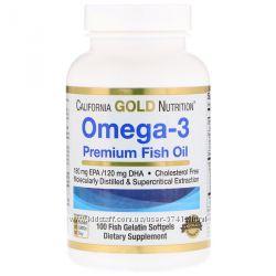 Омега-3 California Gold Nutrition Рыбий жир премиум-класса в наличии