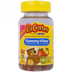 L&acuteil Critters Gummy Vites мультивитамины для детей, 70 мишек, США