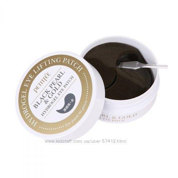 Гидрогелевые патчи для глаз с золотом и черным жемчугом Petitfee&Koelf