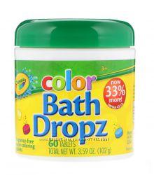 Цветные таблетки Crayola Bath Dropz  для окрашивания воды в ванной