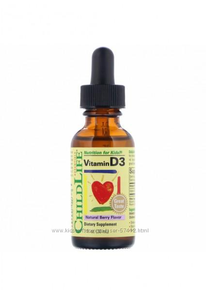 Водный витамин D3 жидкий ChildLife Д3 США