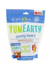 YumEarth, Жевательные мишки, Ассорти вкусов, 10 пакетов со снеками