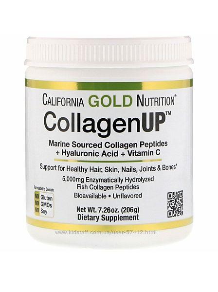 Морской коллаген California Gold Nutrition, Collagen UP, 206г  40 порций