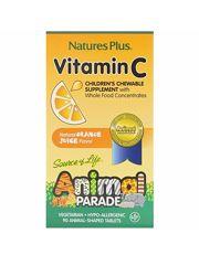 Натуральный витамин С для детей, 90 шт. , Animal Parade, США