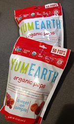 YumEarth леденцы на палочке, 50 шт. Конфеты органические айхерб.