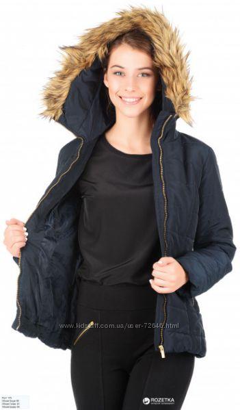Теплая демисезонная куртка H&M, XS, S коричневая