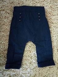 Классные теплые штанишки kiabi с подкладкой на 9мес.