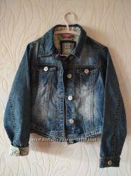 Джинсовый пиджак Next 7-8 лет
