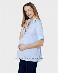 Хлопковая офисная блуза Prenatal.