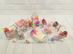 Большой набор мебели для маленьких кукол ЛОЛ - 12 единиц 1102