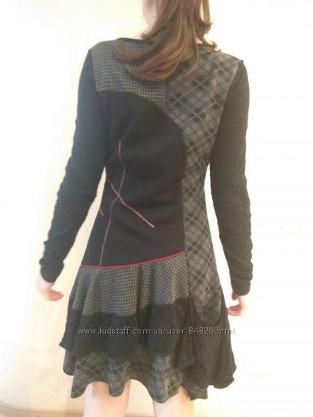 Трикотажное молодежное платье р-р M  46-й наш